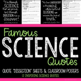 Science Bulletin Board and Quote of the Month Analysis Activity  - STEM