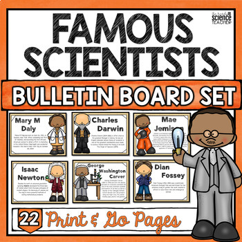 Science Bulletin Board Set (Famous Scientists Posters)