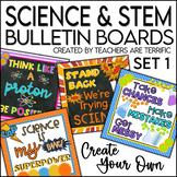 Science Bulletin Board Templates Set 1