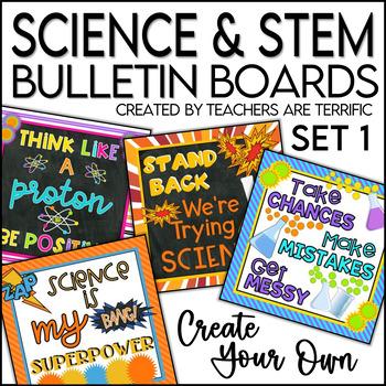 stem science bulletin board templates set 1 by teachers are terrific