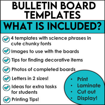 Science Bulletin Board Templates Set 2