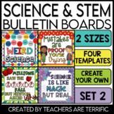 STEM & Science Bulletin Board Templates Set 2