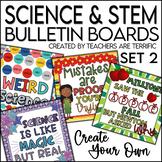 STEM & Science Bulletin Board Templates Set 2