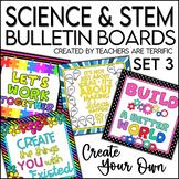 STEM & Science Bulletin Board Templates Set 3