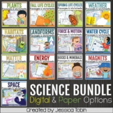 Science Worksheets No-Prep Bundle and Science Distance Learning Google Classroom