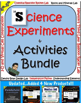 STEM Science Experiments and Activities Bundle- Updated!!!