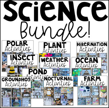 Science Bundle Activities and Centers K-1 {GROWING} Distance Learning