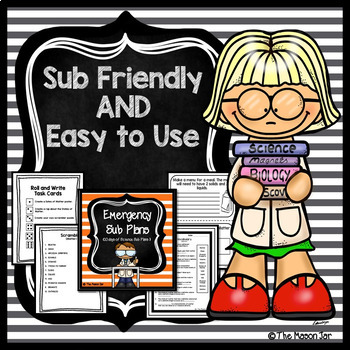 Science Bundle (Emergency Sub Plan, Word of the Day, Science Vocabulary Bundle)