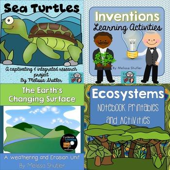 Science Bundle- FIVE Interactive Science Units