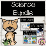 Science Bundle Food Chains, Life Cycles, Rapid and Slow La
