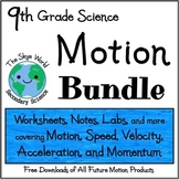 BUNDLE of LESSONS - Motion - Speed, Acceleration, and Momentum