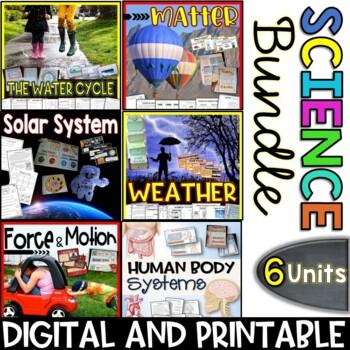 Science Bundle Packs - 6 Units - Interactive Notebooks, PowerPoints, Printables