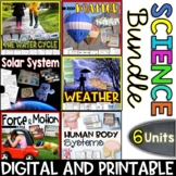 Science Bundle Packs - 6 Units - Interactive Notebooks, Po