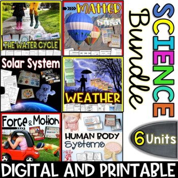 Science Bundle Packs - 6 Units - Interactive Notebooks, Po