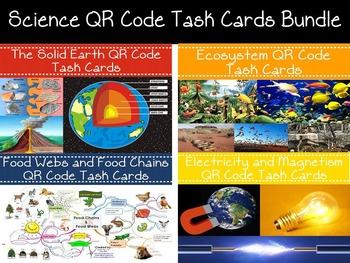 NGSS Aligned: Science QR Code Task Cards Bundle