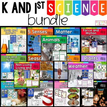 Science Growing Bundle for kinders and firsties too