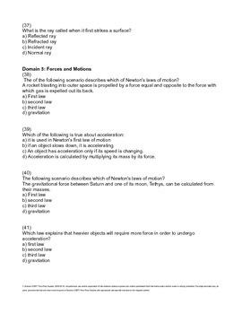 Science CSET 118 Practice Test