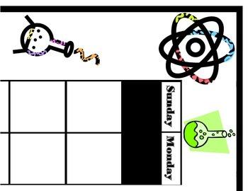 Science Calendar! Science Bulletin Board! Science Theme! S