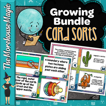 SCIENCE CARD SORTS - GROWING BUNDLE!
