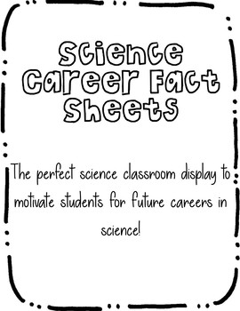 Science Career Fact Sheets