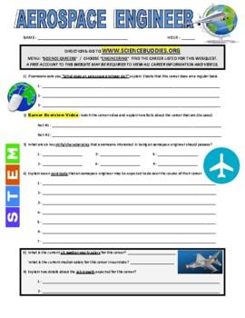 Science Career Webquest - Aerospace Engineer
