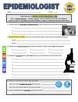 Science Career Webquest - Epidemiologist