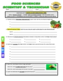Science Career Webquest - Food Sciences