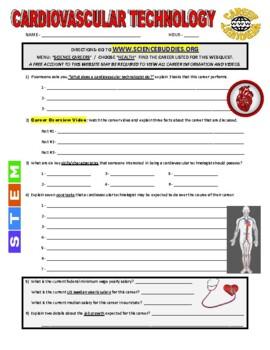 Science Career Webquest - Cardiovascular Technologist
