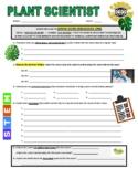 Science Career Webquest - Plant Scientist (Ecology / Botany)