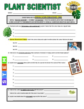 Science Career Webquest - Plant Scientist
