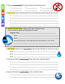 Science Career Webquest - Water / Wastewater Engineer