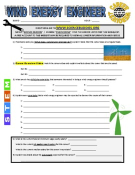 Science Career Webquest - Wind Energy Engineer