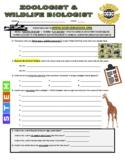 Science Career Webquest - Zoologist / Wildlife Biologist
