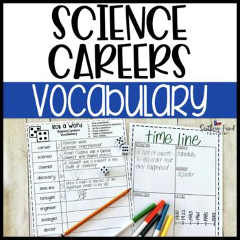 Science Careers Fun Interactive Vocabulary Dice Activity EDITABLE