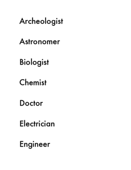 Science Careers ABC Book