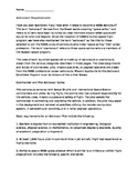 Science Careers: Astronaut Expository Text with Questions