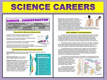 Science Careers : Chiropractor Article and Worksheet (Biology / Health)