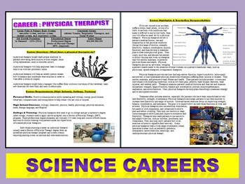 Science Careers : Physical Therapist Article and Worksheet (Health / Biology)