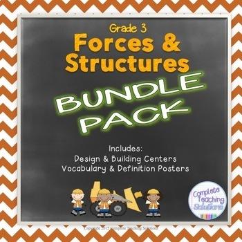 Grade 3 Science Centres BUNDLE: Forces & Structures