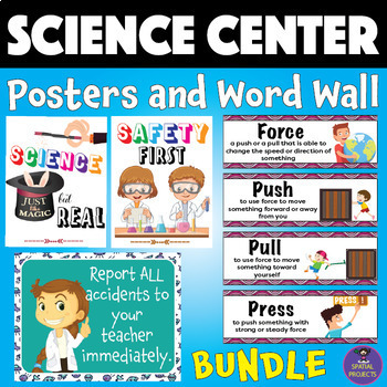 Science Center Posters and Word Wall BUNDLE