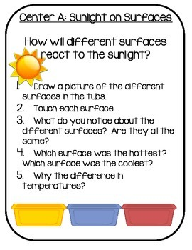 NGSS Science Centers: Sunlight