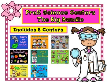 Science Centers for Prek and Kindergarten:  A GROWING BUNDLE