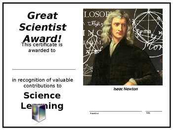 Science Certificates