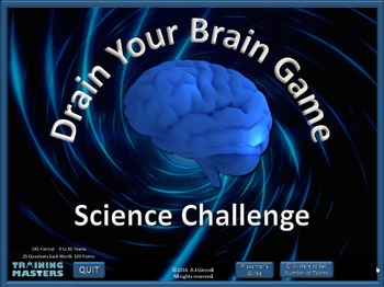 Science Challenge - A PowerPoint Drain Your Brain Game by