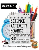 Science Activity Boards for Early Finishers: Reinforce & Extend ALL Year!