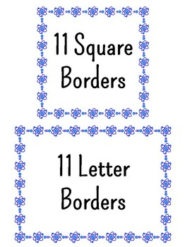 Science Chemistry Clip Art - 22 Atom Borders {Commercial & Personal Use}