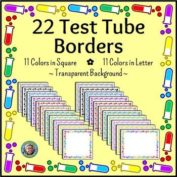 Science Chemistry Clip Art - 22 Test Tube Borders {Commerc