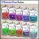 Science Chemistry Clip Art - 30 Glitter Beakers {Commercia
