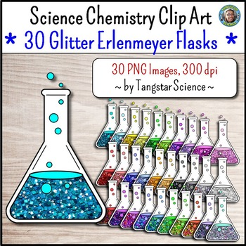 Science Chemistry Clip Art - Mega Glitter Bundle {Commercial Use Okay}