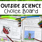 Science Choice Board For Outside Learning Distance Learning